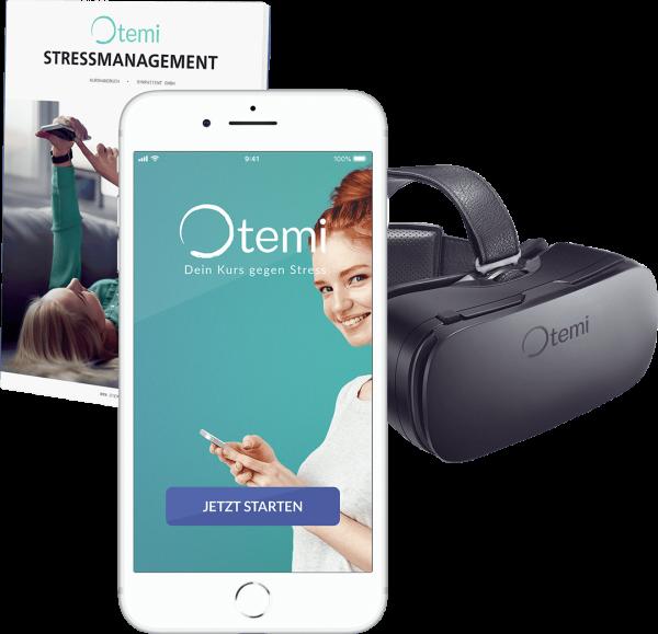 Otemi: Die App gegen Stress. Inkl VR Brille (Prävention § 20 SGB)