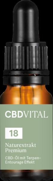 CBD Naturextrakt PREMIUM Öl 18 %