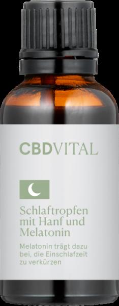 CBD-Vital Schlaftropfen mit Hanf & Melatonin 30 ml