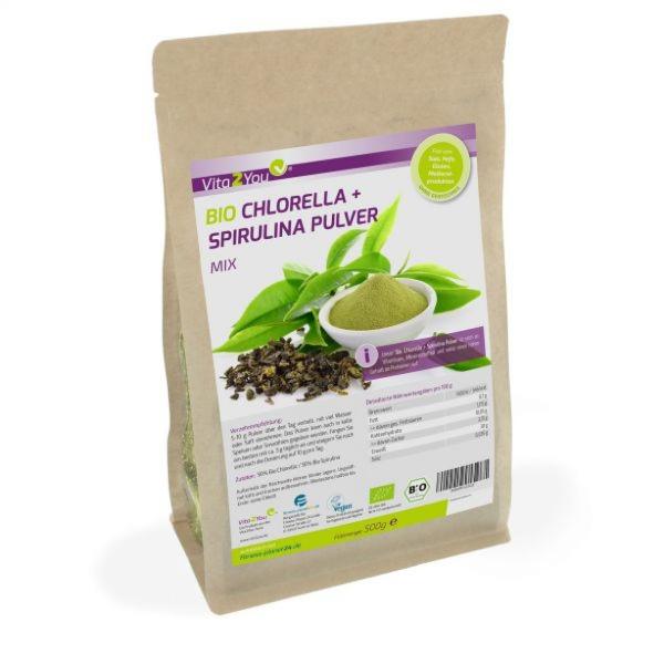 Bio Chlorella + Spirulina Pulver Mix