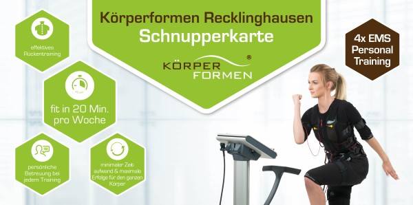 Schnupperkarte (4x EMS-Training)