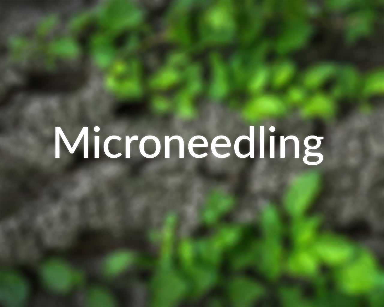 Medizinisches Microneedling